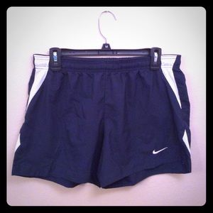 Navy Nike soccer/running shorts